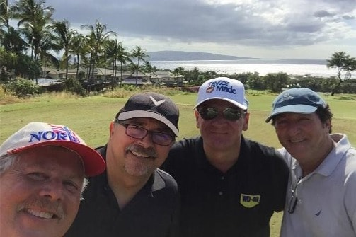 Steve golfing with friends